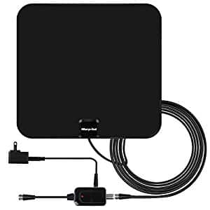 40% OFF at Amazon on HDTV Antenna, 60+ Mile Range with Detachable Amplifier Signal Booster, TV Antenna Indoor Amplified Digital $12.59