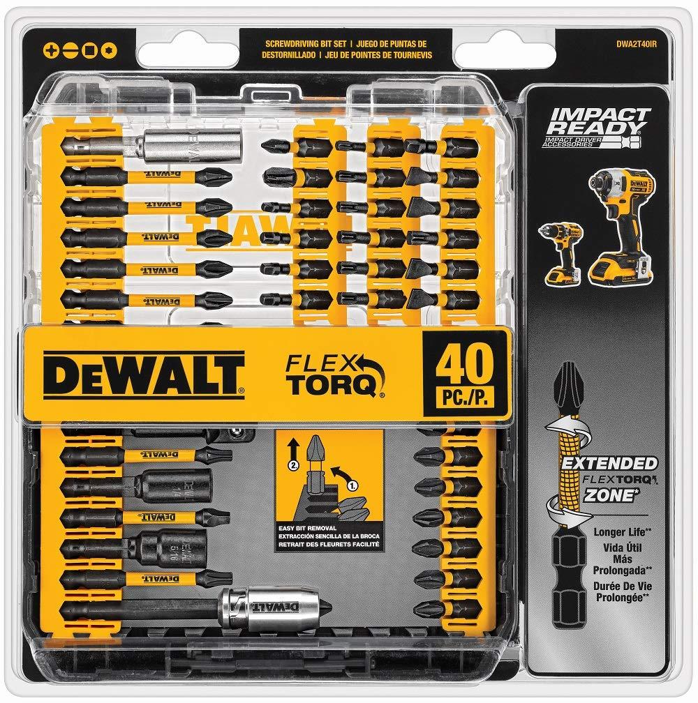 DEWALT Screwdriver Bit Set, Impact Ready, FlexTorq, 40-Piece (DWA2T40IR) $14.64