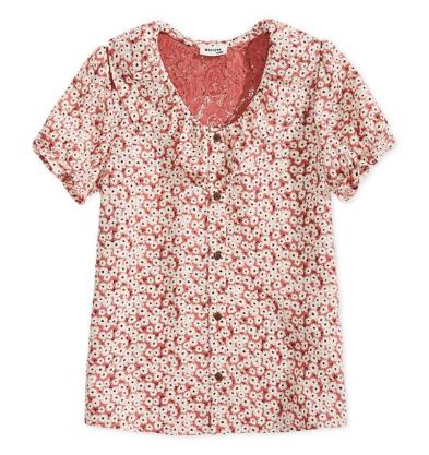 $4.96 Big Girls Floral-Print Shirt