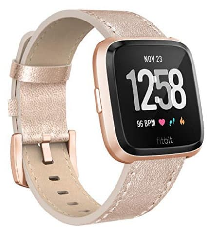 Fitbit Versa Leather Wristband for Men and Women from $4.89