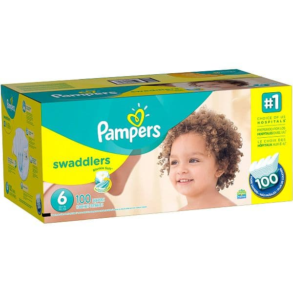 Walmart: Pampers Swaddlers Size 6 (100 count) @ $25.60