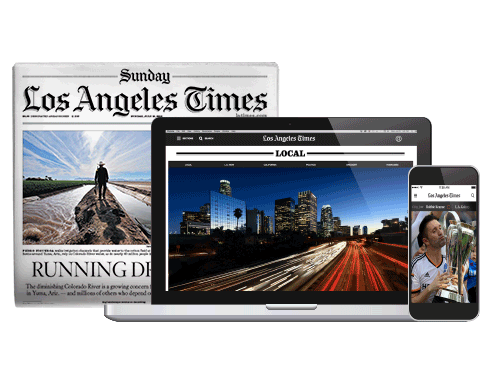 LA Times Sunday Newspaper Subscription for $9.88 one year (plus free unlimited e-newspaper)