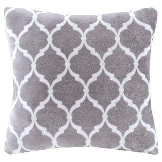 "Gray Ogee Printed Microlight Throw Pillow (20""x20"") $10.49 Online @ Target - FS for Redcard holders or orders $35+"