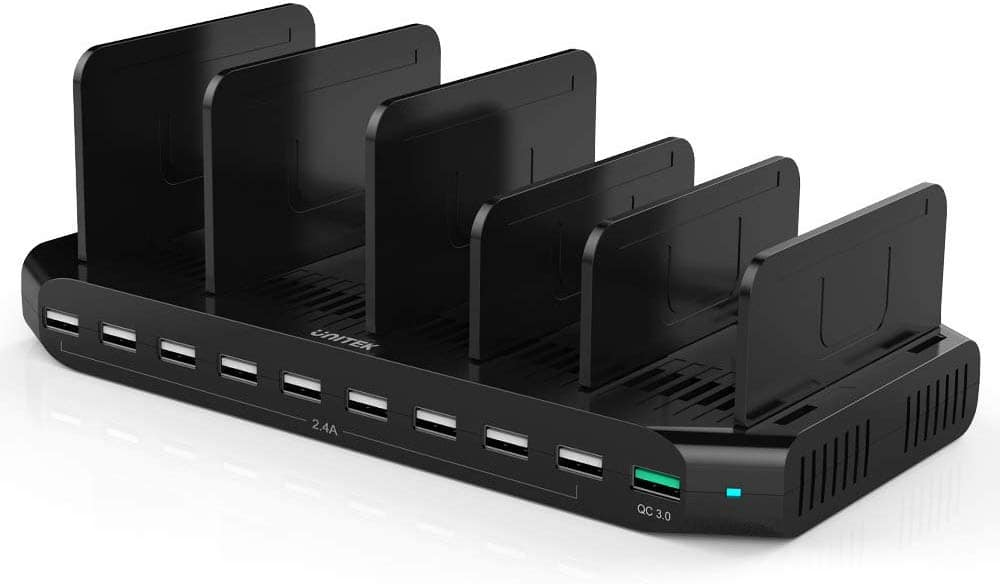 Unitek Fast Charging Station with Quick Charge 3.0, Multi USB Charger Station for Multiple Devices $25.99