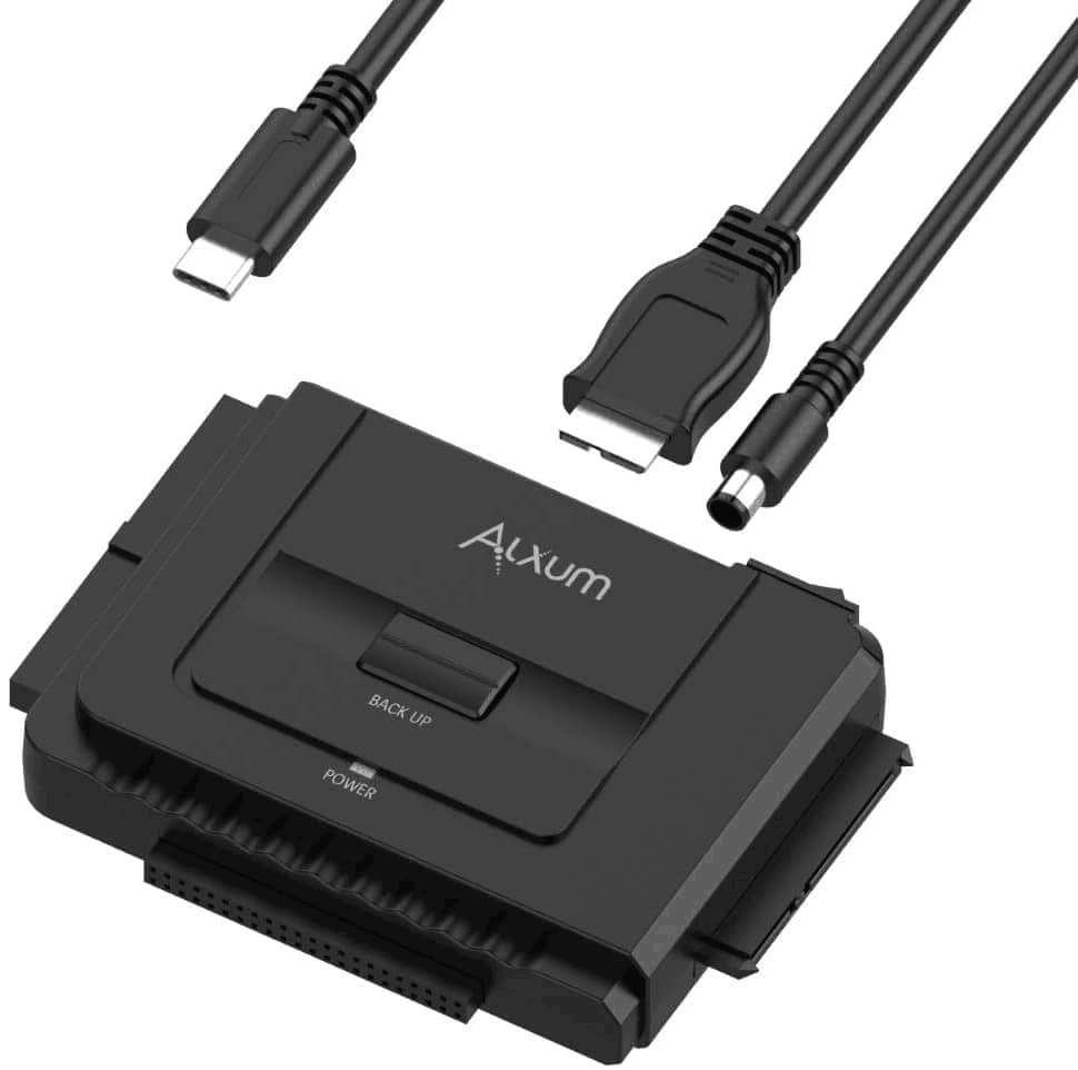 """Alxum USB-C to SATA IDE Hard Drive Converter for Universal 2.5""""3.5"""" SSD HDD $19.99"""