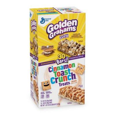 Golden Graham and Cinnamon Toast Crunch Cereal Bar Treats (30 count) - $.91 @ Sam's Club