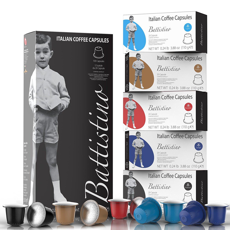 100CT Battistino Nespresso Coffee Pods 5 flavors for only $27.59