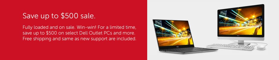 """Dell Outlet $500 off XPS 13"""" or 15"""" Ultrabook priced $1,099+ ($659+ tax for lowest option w/ touchscreen) & More *via Chat or Phone Only*"""