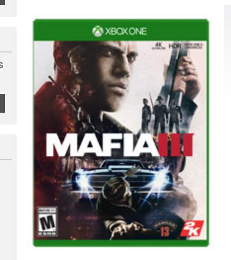 Mafia III Xbox One $9.99