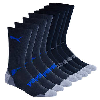 Puma Men's Sport Cushion Crew Sock 8-pair   $9.99 with Free Shipping $10