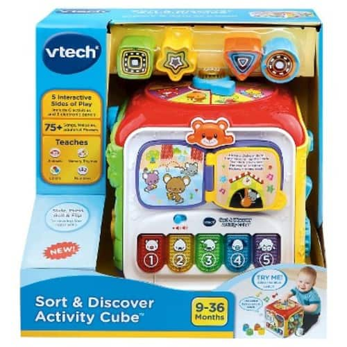 VTech Sort & Discover Activity Cube + prime $13.99