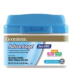 GoodSense Advantage Non-GMO Milk-Based Powder Infant Formula with Iron 23.2oz ($10.49 or $58.79 for 6)