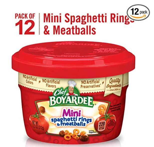 Chef Boyardee Mini Bites 12 pack $7.71 15%SS and on page coupon