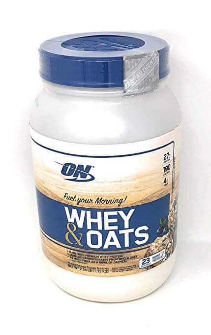 Optimum Nutrition On Whey & Oats Protein Powder (Blueberry Muffin, 23 Servings (2.54 lbs)) for $11.99