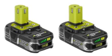 Ryobi  ONE+ 18-Volt Lithium+ Compact Battery (2-Pack). HomeDepot $69
