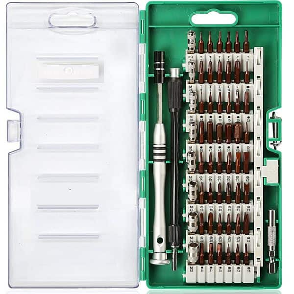 E.Durable 60in1 Precision Screwdriver Multi-Tool set,  50%OFF-  $7,   code-  CQKS5JL5