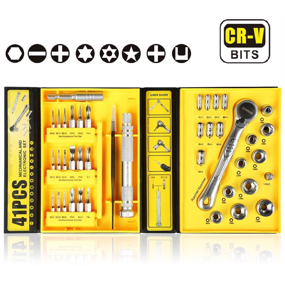 E.Durable 41in1 Ratchet Wrench Screwdriver Set Multi-Tool set, 40%OFF- $15, code- HXL3LQZH