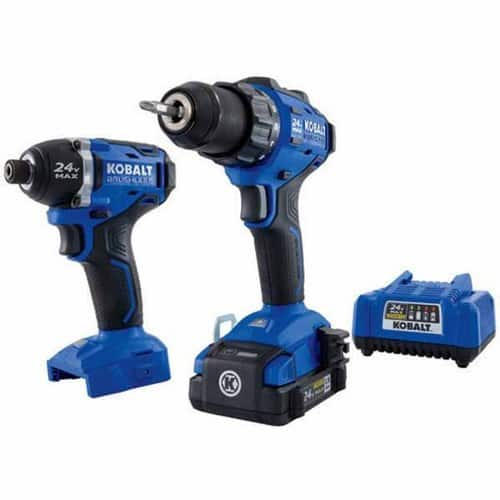 Kobalt 2-Tool 24-volt Max Brushless Lithium Ion Cordless Combo Kit $139
