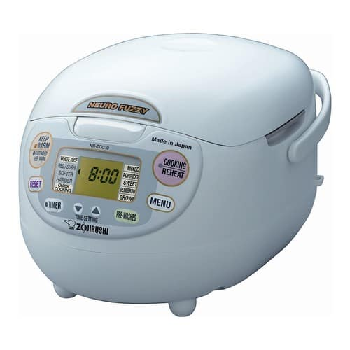 Zojirushi NS-ZCC10 5-1/2-Cup (Uncooked) Neuro Fuzzy Rice Cooker and Warmer, Premium White, 1.0-Liter $127.75