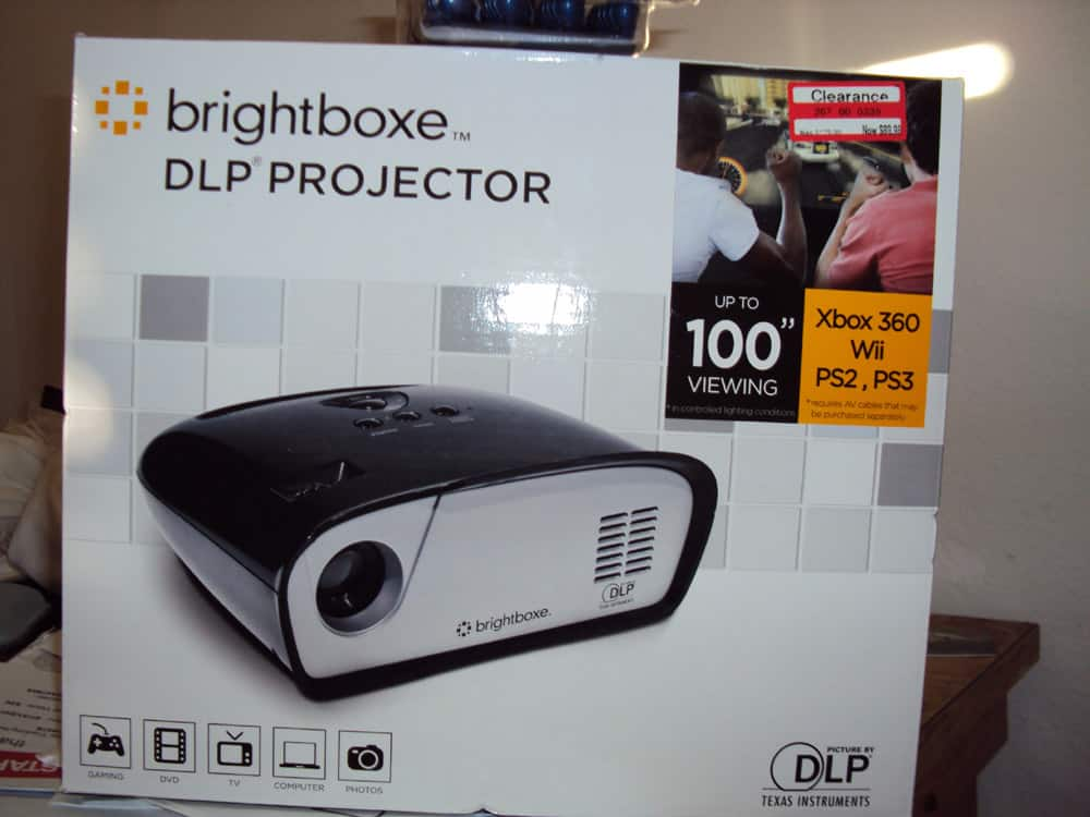 Brightboxe DLP Projector Clearance at Target $89.99 Orig. $179.99 Best Cheap Projector