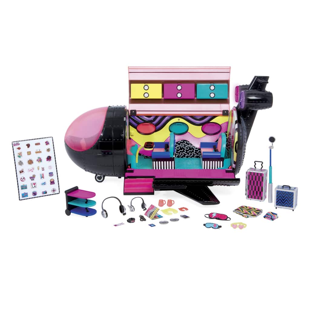 LOL Surprise OMG Remix 4-in-1 Plane Playset with Music Recording Studio, Mixing Booth and 50 Surprises - $25