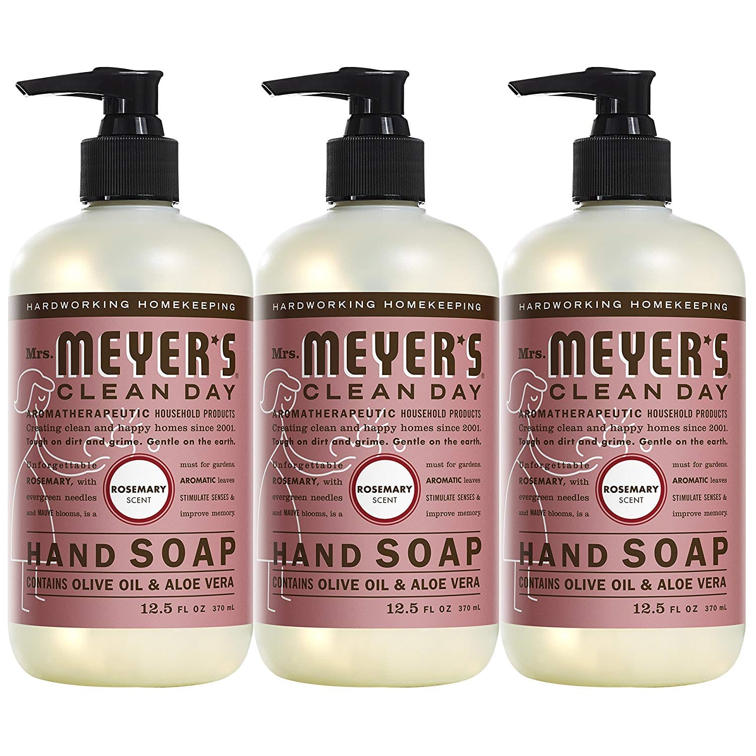 3-Pack 12.5oz Mrs. Meyer´s Clean Day Hand Soap (Rosemary)