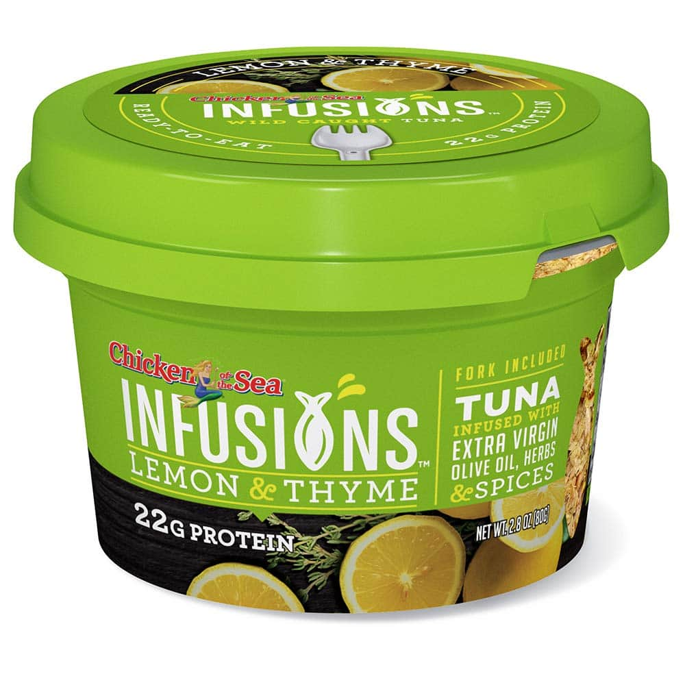 Chicken of the Sea Infusions Tuna, Lemon & Thyme, 2.8 Oz Cups (Pack of 6) $8.82