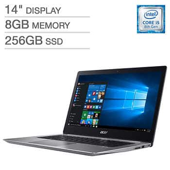 "Acer Swift 3 Laptop - Intel Core i5-8250U -  8GB DDR4 SDRAM - 256GB SSD -  14"" LED-backlit Widescreen FHD IPS (1920 x 1080) Display $500 + S/H $15 Costco"