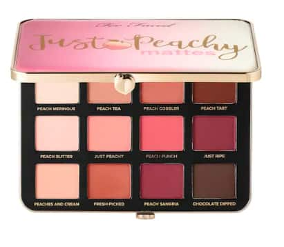 TOO FACED Just Peachy Velvet Matte Eyeshadow Palette – Peaches and Cream Collection $22.50 + Free Shipping $50+