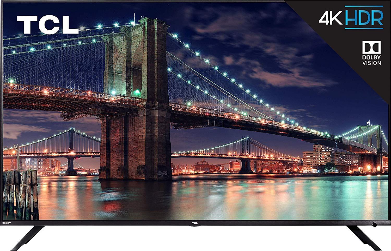 TCL 75R617 75-Inch 4K Ultra HD Roku Smart LED TV (2019 Model) - $1152.48