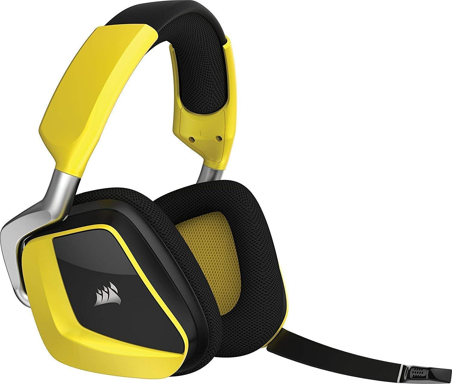 32a873ab2d4 CORSAIR Void PRO RGB Wireless Gaming Headset - Dolby 7.1 Surround Sound  Headphones for PC - Discord - 50mm Drivers - Yellow (Renewed) $54.99