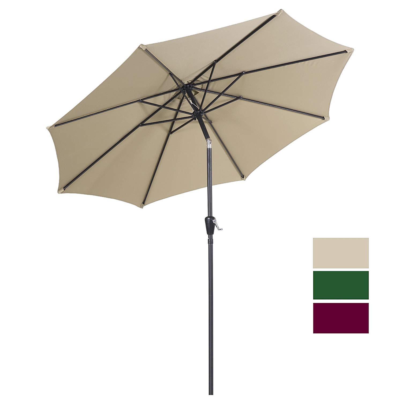 Cloud Mountain 9 Ft Patio Umbrella Outdoor Market Umbrella Table Umbrella for $33.59 @ Amazon