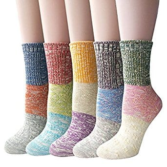 Pack of 5 Womens Multicolor Knitted Casual Crew Socks - $7.99+FS