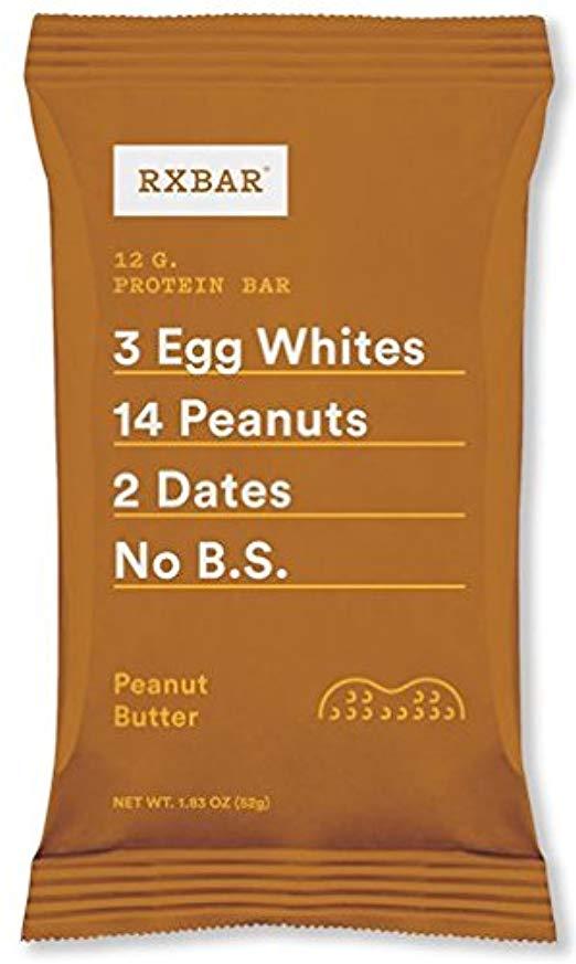 RXBAR Whole Food Protein Bar, Peanut Butter, 1.83oz Bars, 12 Count [Peanut Butter] $13.90+FS