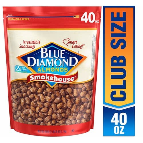 40oz Blue Diamond Almonds (Smokehouse) - $8 + Free Shipping