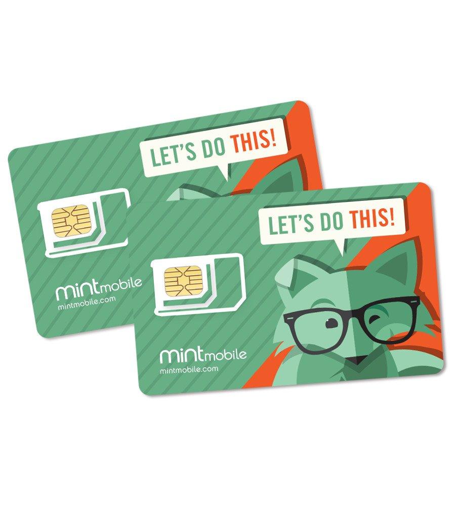 Mint Mobile Cell Phone SIM Card Starter Kit - $0.99