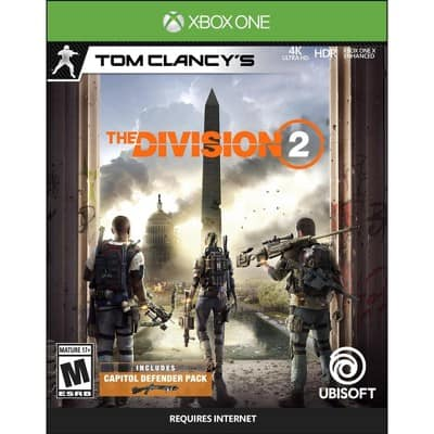 Tom Clancy's: The Division 2 - PlayStation 4 or Xbox w/free store pickup One $9