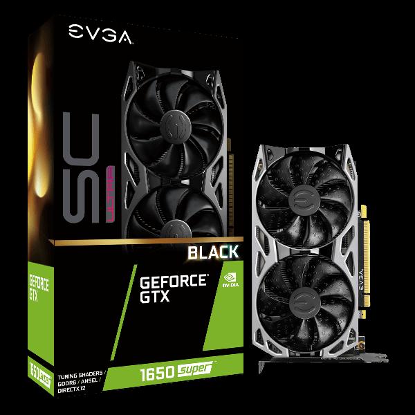 EVGA GeForce GTX 1650 SUPER SC ULTRA BLACK GAMING, 04G-P4-1355-KR, 4GB GDDR6, Dual Fan, Metal Backplate $137 AR w/AC