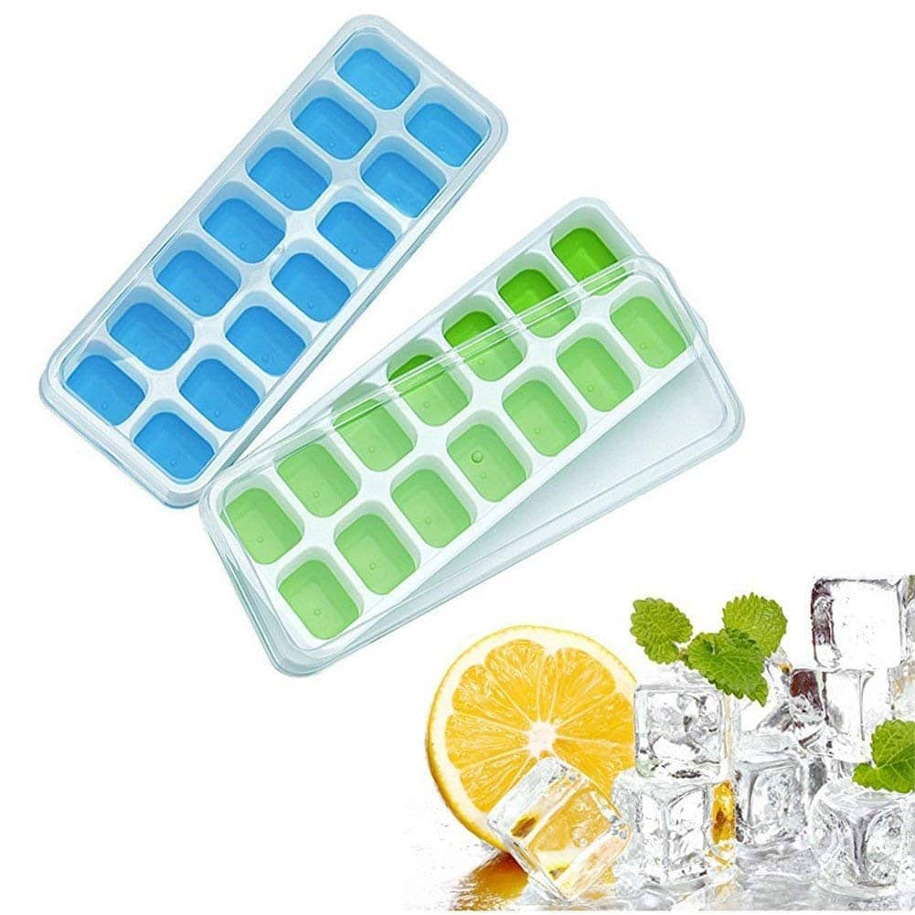 2-Pack Silicone Ice Cube Trays $3.49 + Free Shipping $3.49