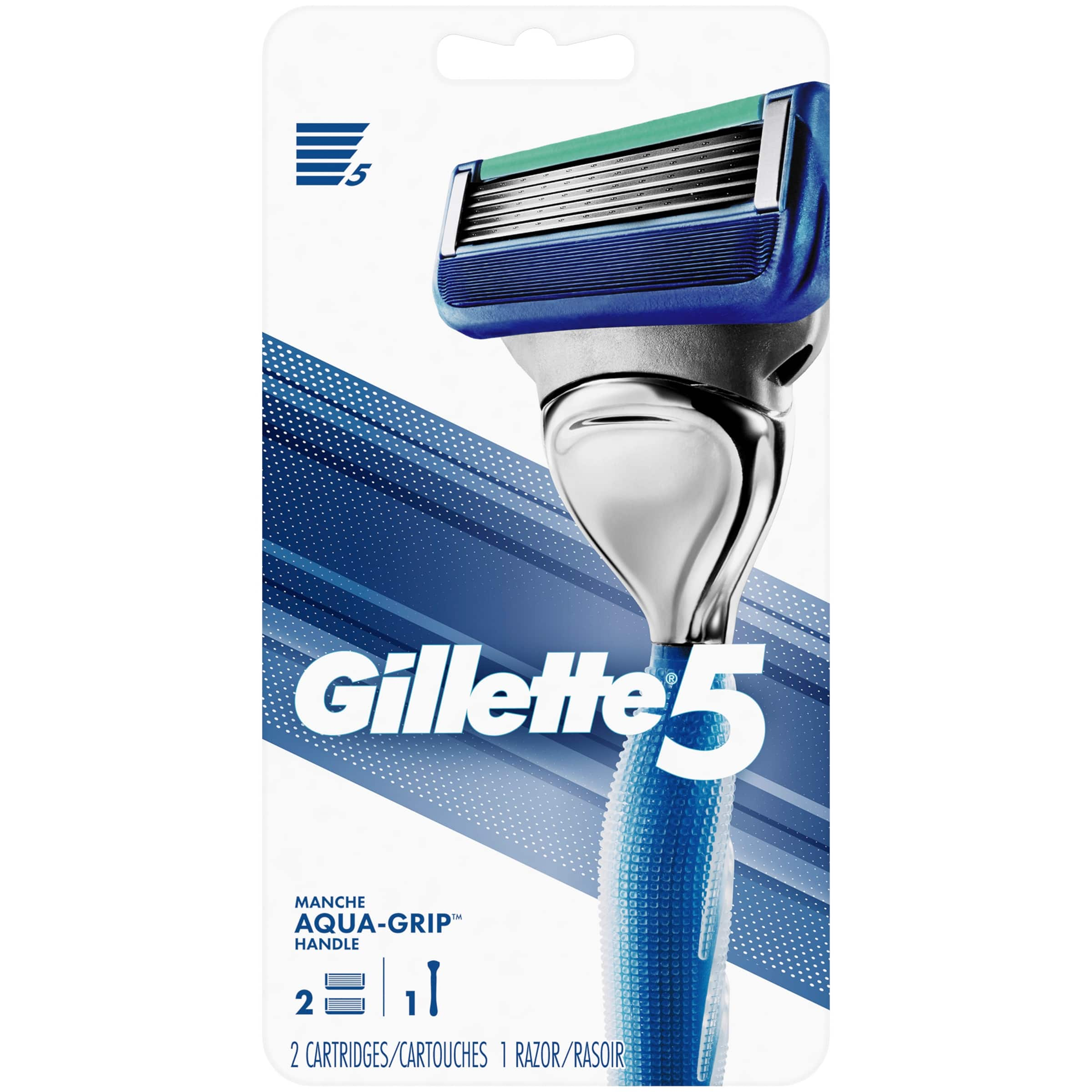 Gillette5 Men's Razor Handle by Gillette + 2 Cartridges $6.93