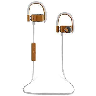 Leather Bluetooth Headphones Wireless In-Ear Earbuds - Brown or Black (BÖHM S6) For $23.97 @ Amazon