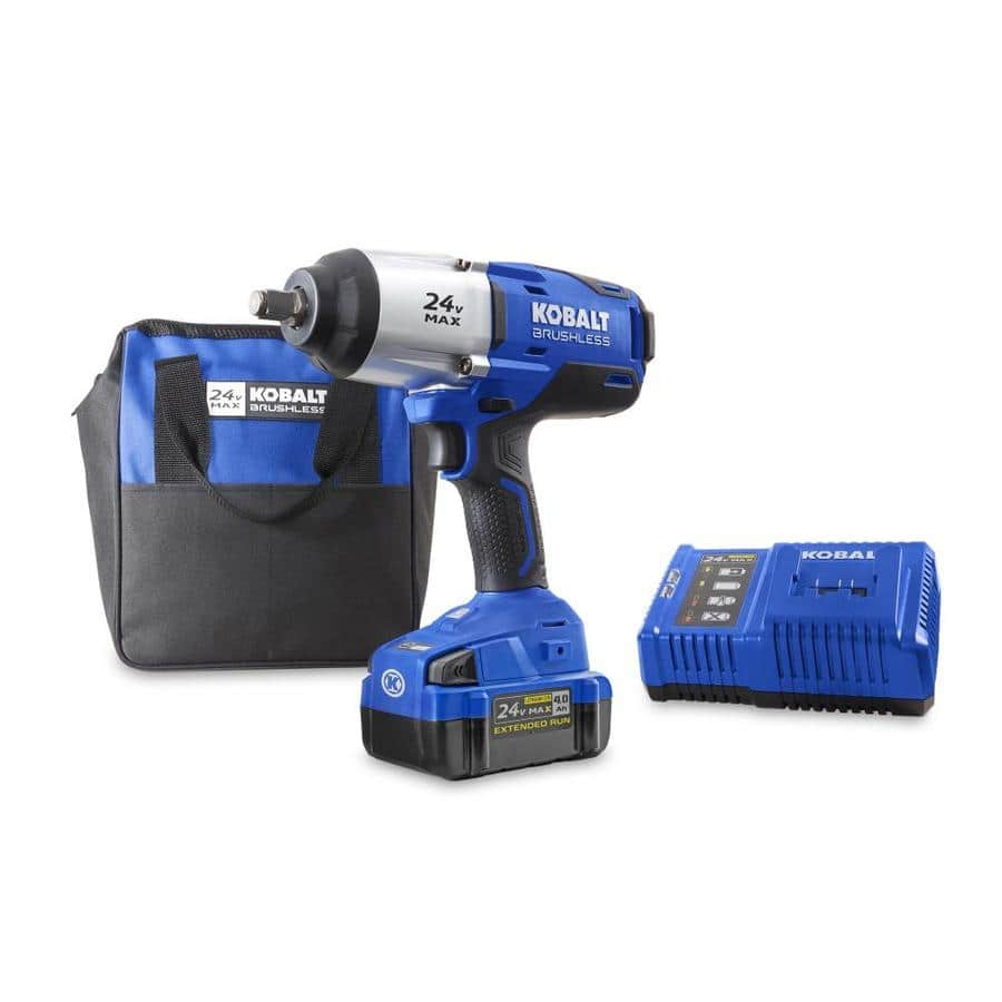 Lowe's - Kobalt 24V Max 1/2-in Drive Brushless Cordless Impact Wrench Kit (Battery and Charger Included) - $149
