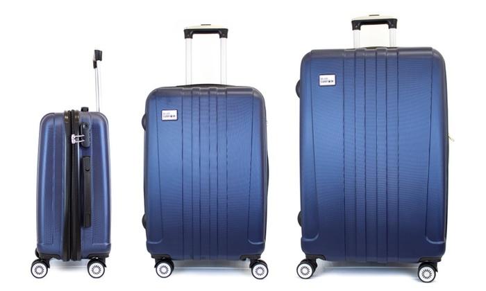 "3 Piece Expandable Hard Luggage Set with TSA Lock - 20"", 24"", 28"" $124.99"