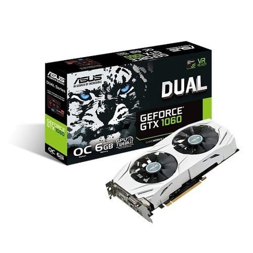 ASUS GeForce (DUAL-GTX1060-O6G) 6GB VR Ready Gaming Graphics Card - $304.99