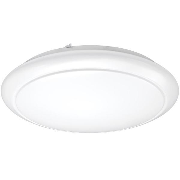 24 in. White Round LED Flush Mount Ceiling Light Pantry Laundry Closet Light 2810 Lumens 2700K Warm White Dimmable $39.97