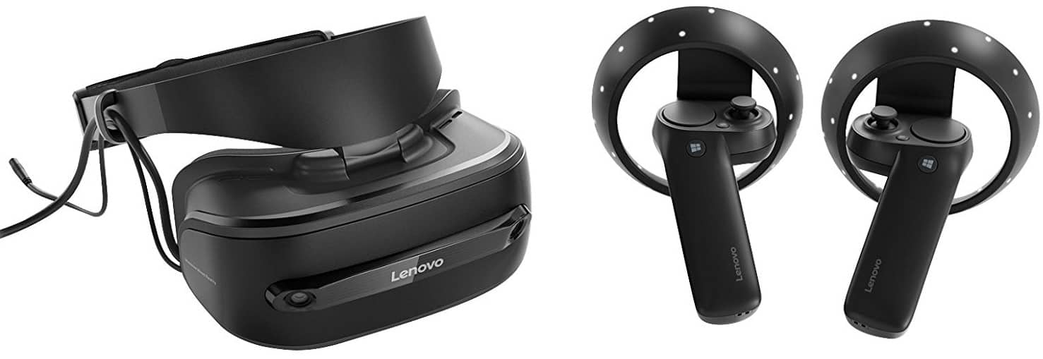 Lenovo Explorer Bundle, VR Headset and Wireless Motion Controllers for Windows Mixed Reality, Iron Grey, G0A20002WW $257.85