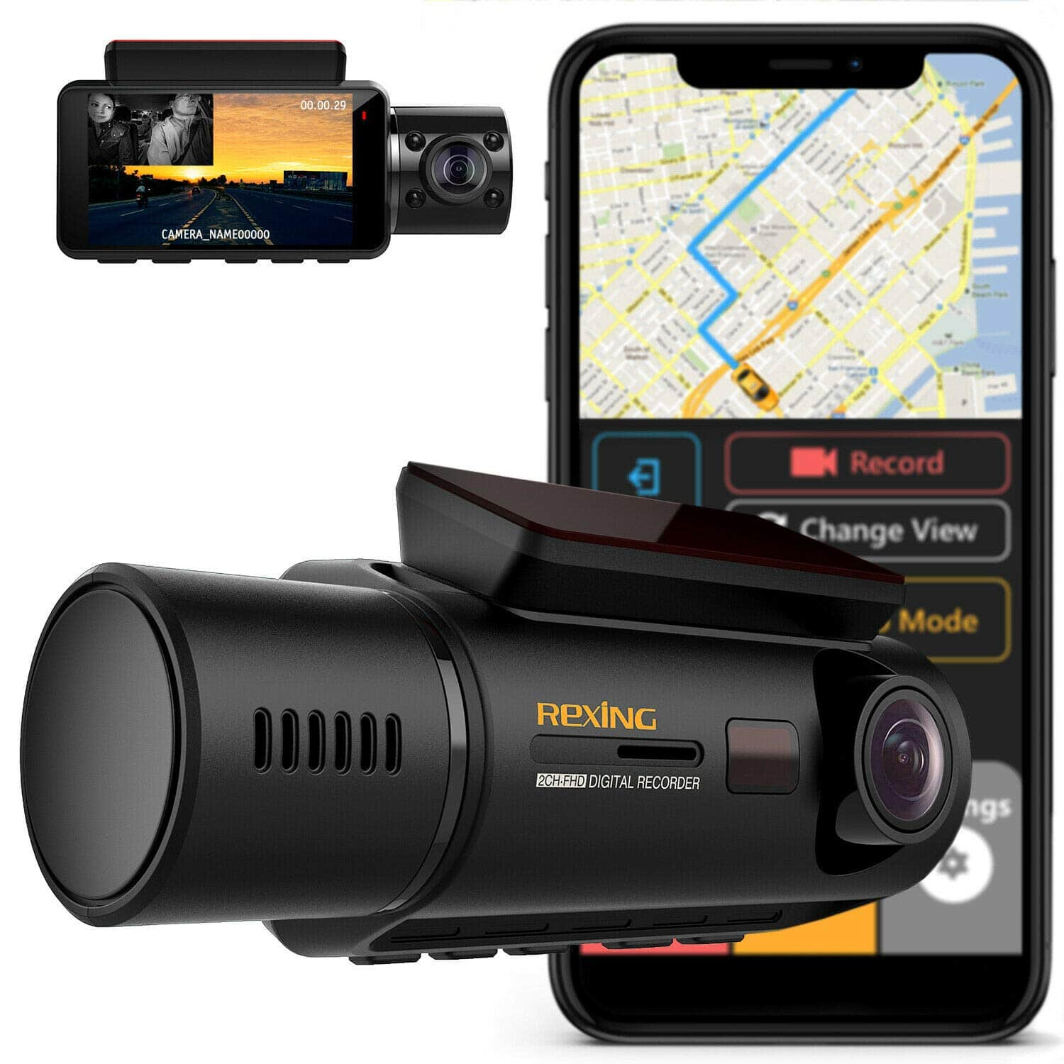 Woot:Rexing V3 Dual Camera Front and Inside Cabin Infrared Night Vision Full HD 1080p WiFi Dash Cam $139.99+FS