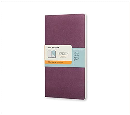 Moleskine Chapters Journal, Slim Pocket, Ruled, Plum Purple, Soft Cover (3 x 5.5) $1.41