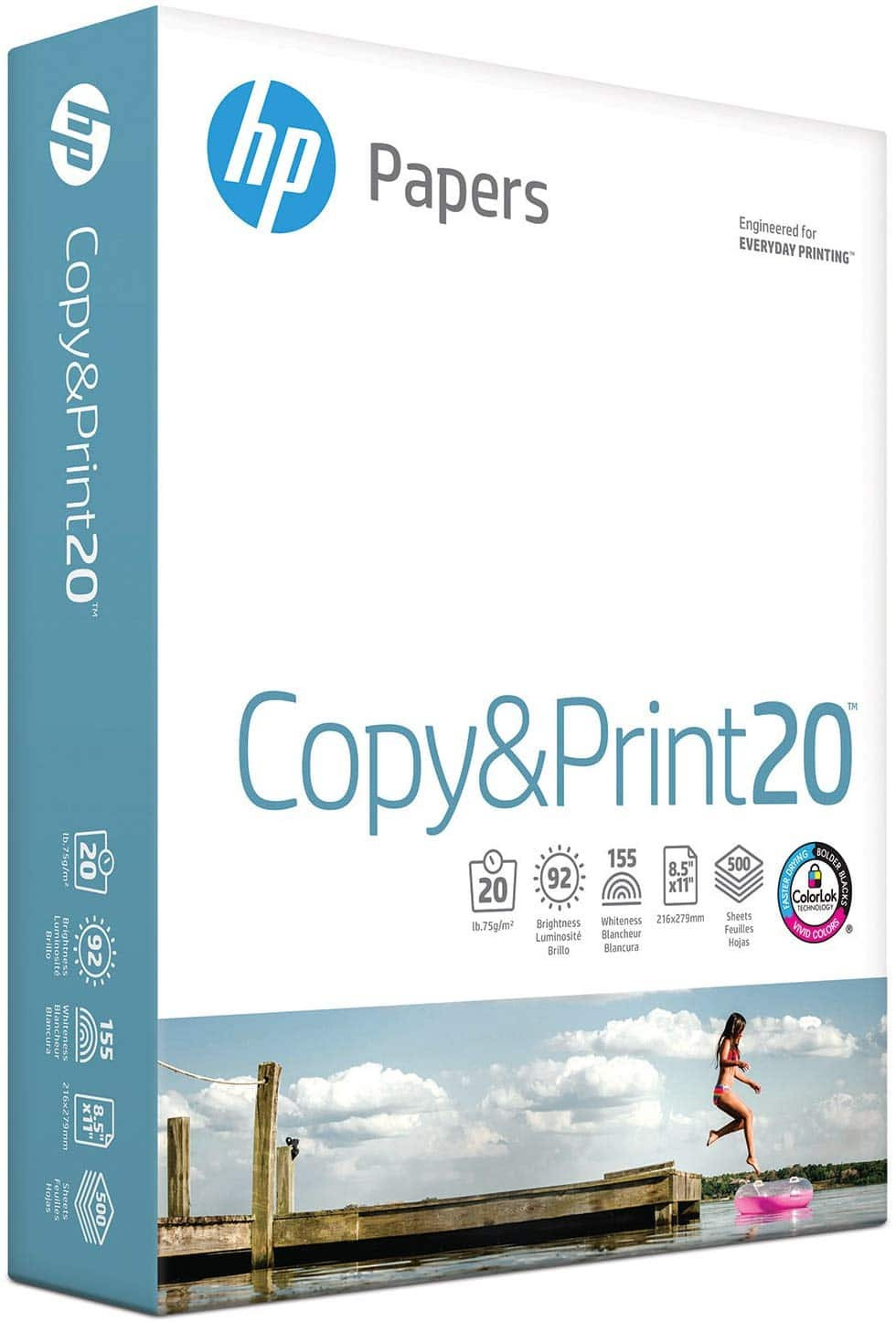 HP Printer Paper Copy&Print 20lb, 8.5 x 11, 1 Ream, 500 Total Sheets, Made in USA with 63% OFF $4.47