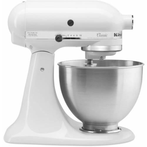 KitchenAid Classic Series 4.5 Quart Tilt-Head Stand Mixer, White with 26% OFF $199